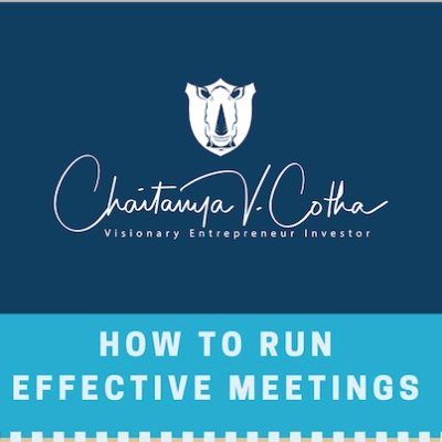 How to Run Effective Meetings,